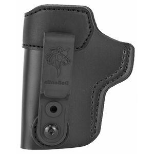 DeSantis Sof-Tuck 2.0 IWB Holster for GLOCK 43, 43X/Kel Tec P11 and Similar Left Hand Leather Black