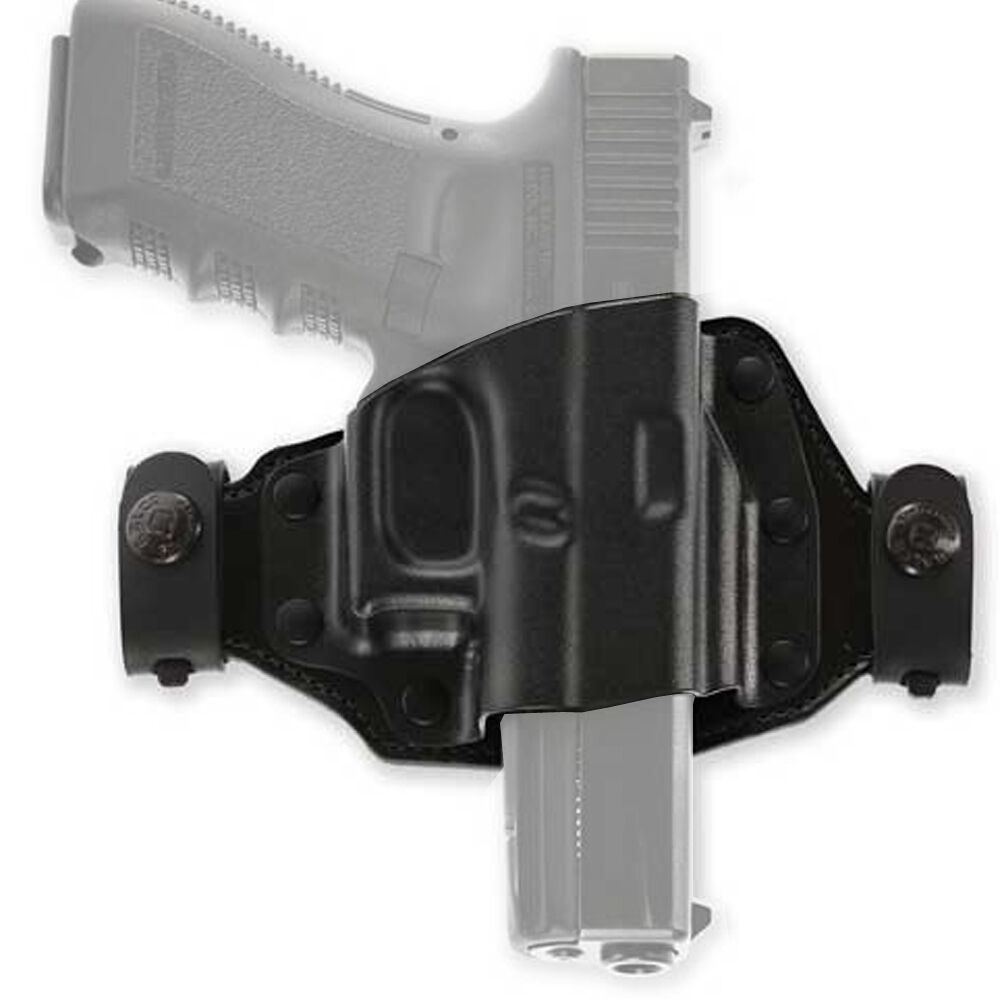 9MM Black OWB Leather Hip Gun holster For S/&W M/&P Shield 40