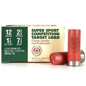 "Estate 12 Gauge Super Sport 2-3/4"" #7.5 Lead  250 Rounds"