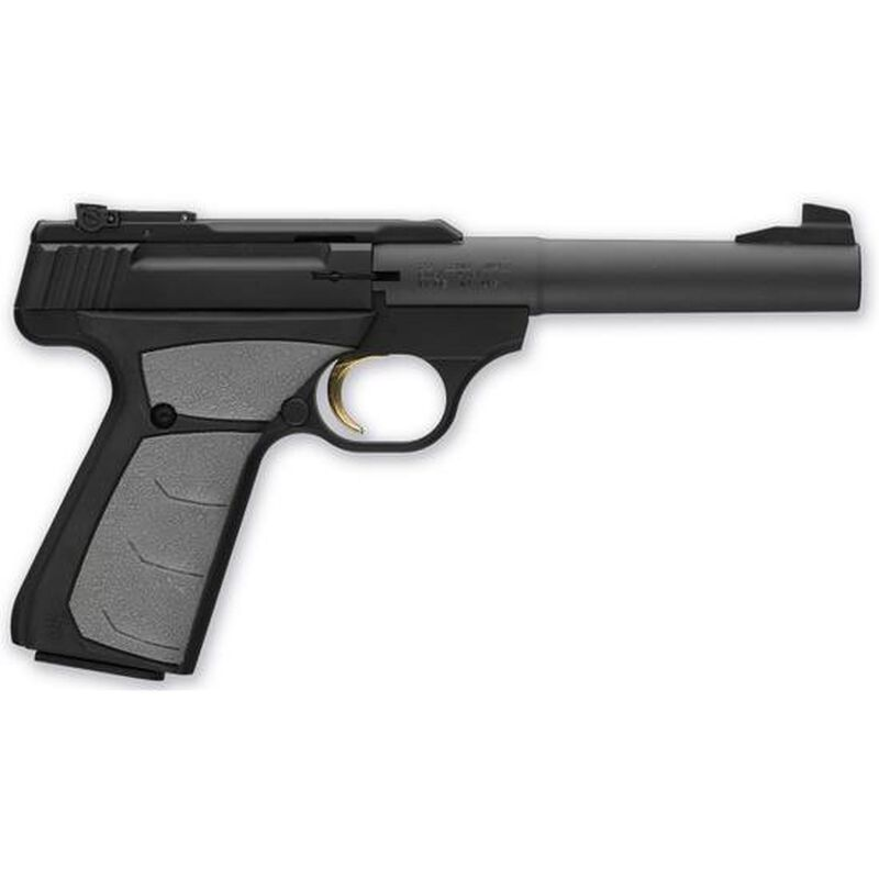 """Browning Buckmark Camper UFX Semi Auto Pistol .22 LR 5.5"""" Tapered Bull Barrel 10 Rounds Synthetic Grips Blued 051498490"""