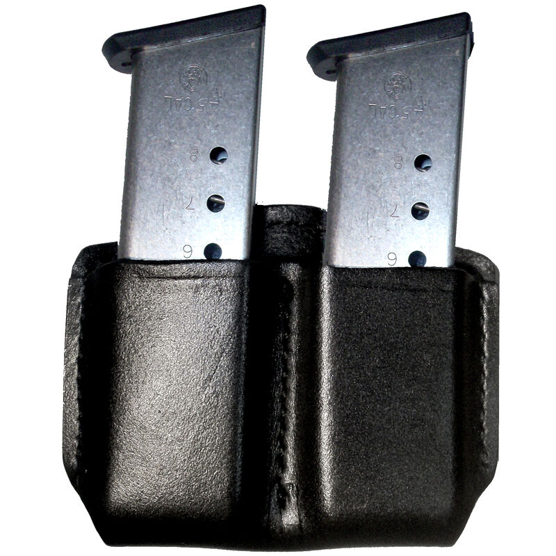 Gould & Goodrich Open Top Double Magazine Case for Single Stack Magazines Leather Black B881-1