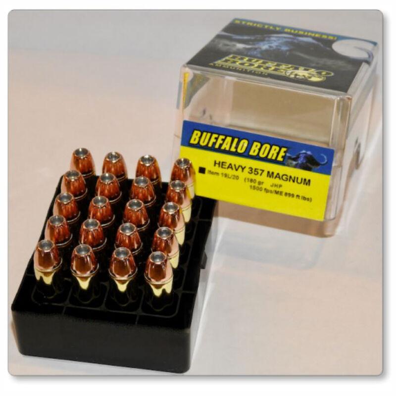 Buffalo Bore Heavy .357 Magnum Ammunition 20 Rounds XTP JHP 180 Grains 19L/20