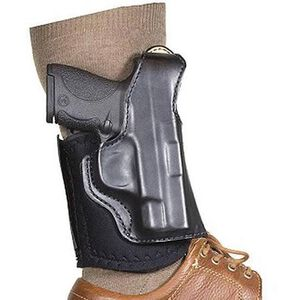 DeSantis Die Hard GLOCK 43 Ankle Holster Right Hand Leather Black 014PC8BZ0