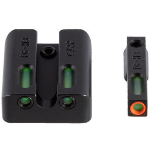 TRUGLO TFX Pro CZ P10 Front and Rear Set Green TFO Night Sights Orange Ring Steel Black