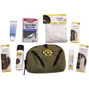 CVA Field Cleaning Kit .50 Caliber Muzzleloader 8 Piece Set with Soft Travel Case Nylon Green