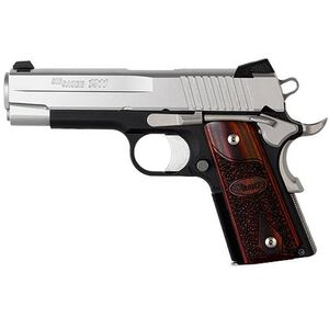 """SIG Sauer 1911 C3 Semi Automatic Pistol .45 ACP 4.2"""" Barrel 7 Round Capacity Rosewood Grips Stainless Finish 1911CO-45-T-C3"""
