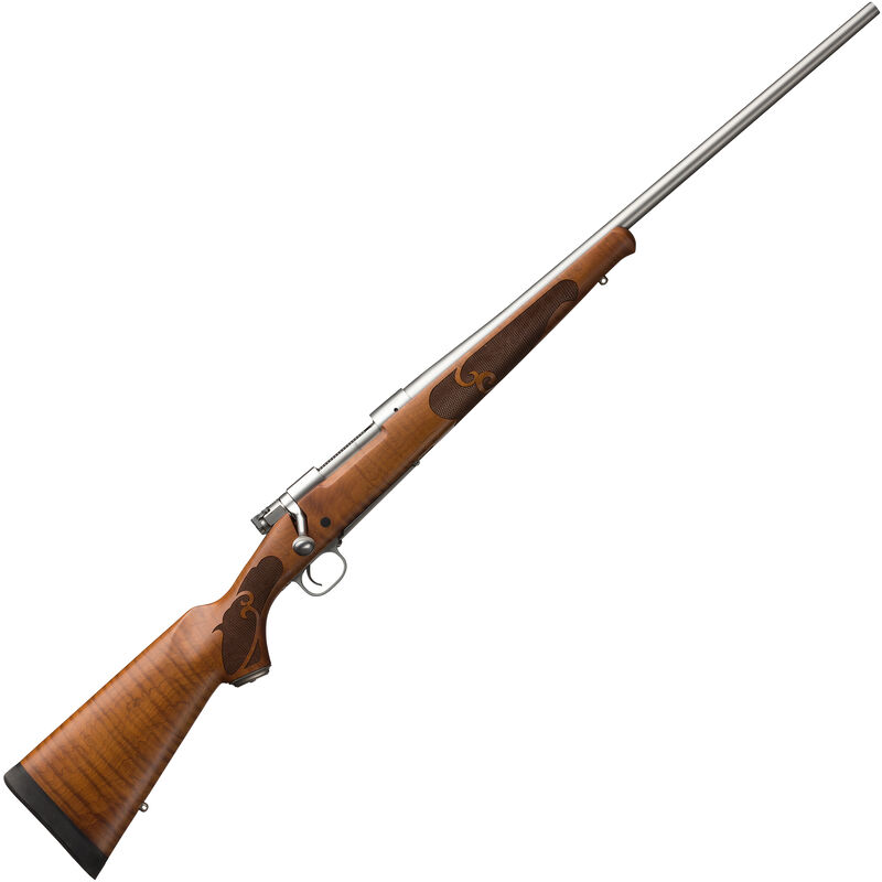 "Winchester Model 70 Featherweight Dark Maple Stainless .308 Win Bolt Action Rifle 22"" Barrel 5 Rounds Adjustable Trigger Maple Stock Stainless Steel Finish"