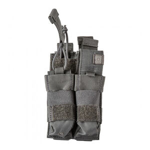 5.11 Tactical Double Pistol Magazine Bungee Cover SlickStick and MOLLE Elastic Compression N500 Storm