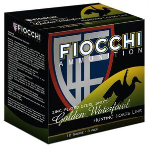 "Fiocchi Golden Waterfowl 12 Gauge Ammunition 3"" #4 Shot 1-1/4oz Steel 1350fps"