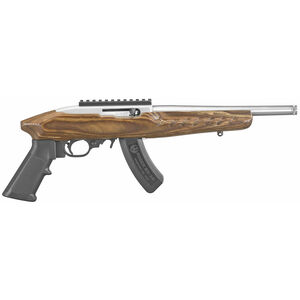 "Ruger TALO 22 Charger .22 LR Semi Auto Pistol 10"" Barrel 15 Round Threaded Barrel Laminate Forend Silver"