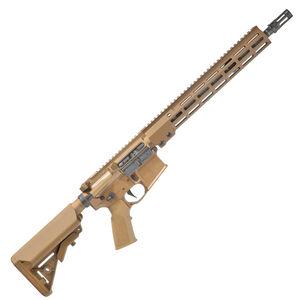 "Geissele AR-15 Super Duty SD556 5.56 NATO Semi Auto Rifle 14.5"" Barrel Pin/Welded 16"" OAL No Magazine 13.5"" Free Float M-LOK Hand Guard B5 SOPMOD Stock Desert Dirt Color"
