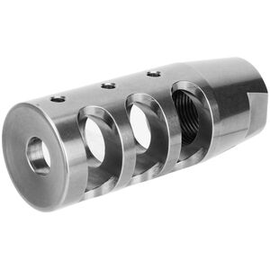 """Tacfire .223/5.56 1/2"""" x 28 TPI Compact Size Stainless Steel Compensator"""
