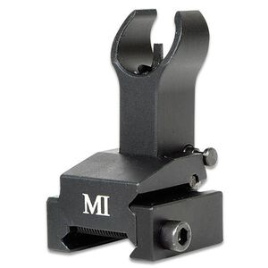 Midwest Industries AR-15 Gas Block Height Front Flip-Up Sight Aluminum Black MCTAR-FFG