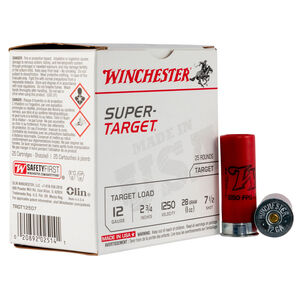 "Winchester Super-Target 12 Gauge Ammunition 25 Round Box 2-3/4"" #7.5 Lead 1oz 1250 fps"