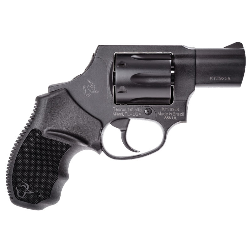 """Taurus 856 UL Concealed Hammer .38 Special +P Double Action Revolver 2"""" Barrel 6 Rounds Rubber Grips Black Finish"""