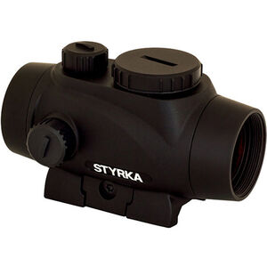 STYRKA S3 Green Dot 1x21mm Illuminated 5 MOA Dot Picatinny/Weaver Mount Matte Black Finish