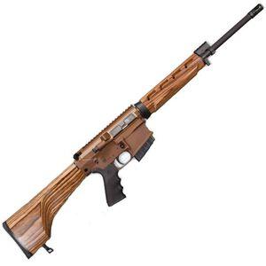 "Windham Weaponry Hunter Semi Auto Rifle .308 Win 18"" Barrel 5 Rounds Nutmeg Laminate Stock Coyote Brown Receiver R18FFTWS2308"