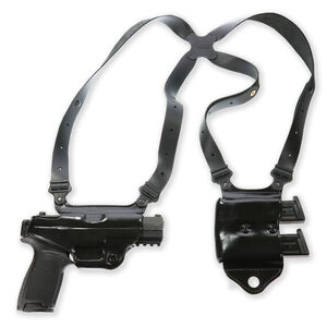 Galco Miami Classic II GLOCK 17, 19, 26, 34, 22, 23, 27, 35, 31, 32, and 33 Shoulder Holster System Right Hand Leather Black MCII224B
