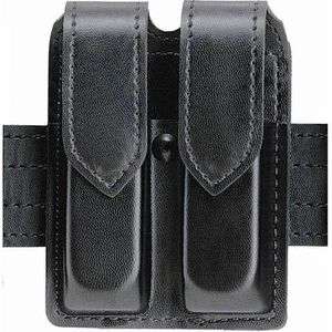 Safariland Model 77 Double Handgun Magazine Pouch Taurus PT99C Magazines Plain Finish Hidden Snap Closure Black 77-76-2HS