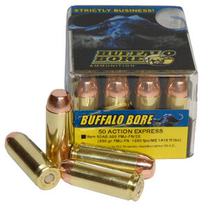 Buffalo Bore .50 AE Ammunition 20 Rounds FMJ-FN 350 Grains