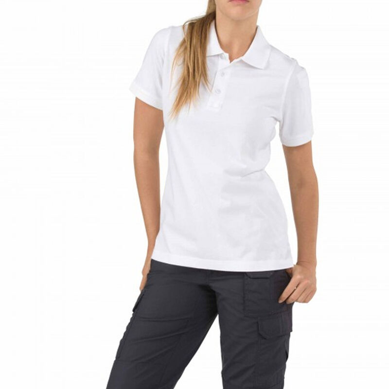 5.11 Tactical Women's Short Sleeve Tactical Polo Cotton Large Dark Navy 61164