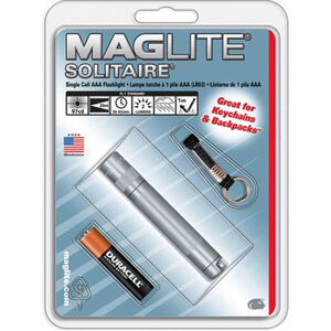 MagLite Solitaire Flashlight Incandescent 1.5 volts 2 lumens AAA 1-Cell Gray
