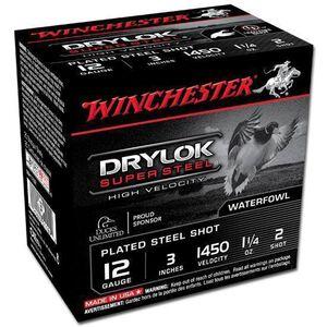 "Winchester Drylok 12 Ga 3"" #2 Steel 1.25oz 25 Rounds"