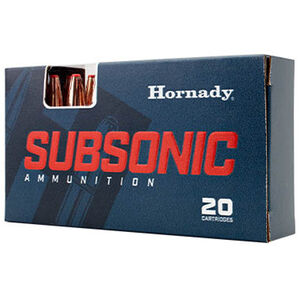 Hornady Subsonic 30-30 Win Ammunition 20 Rounds 175 Grains Sub-X Projectile