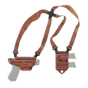 Galco Miami Classic II SIG Sauer P320 Full Sized 9/40 Shoulder Holster System Right Hand Leather Tan
