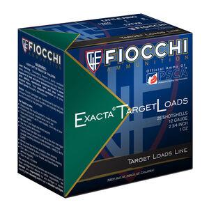 """Fiocchi Exacta Target Line Little Rino 12 Gauge Ammunition 250 Rounds 2-3/4"""" #8 Shot 1oz Lead 1250fps"""