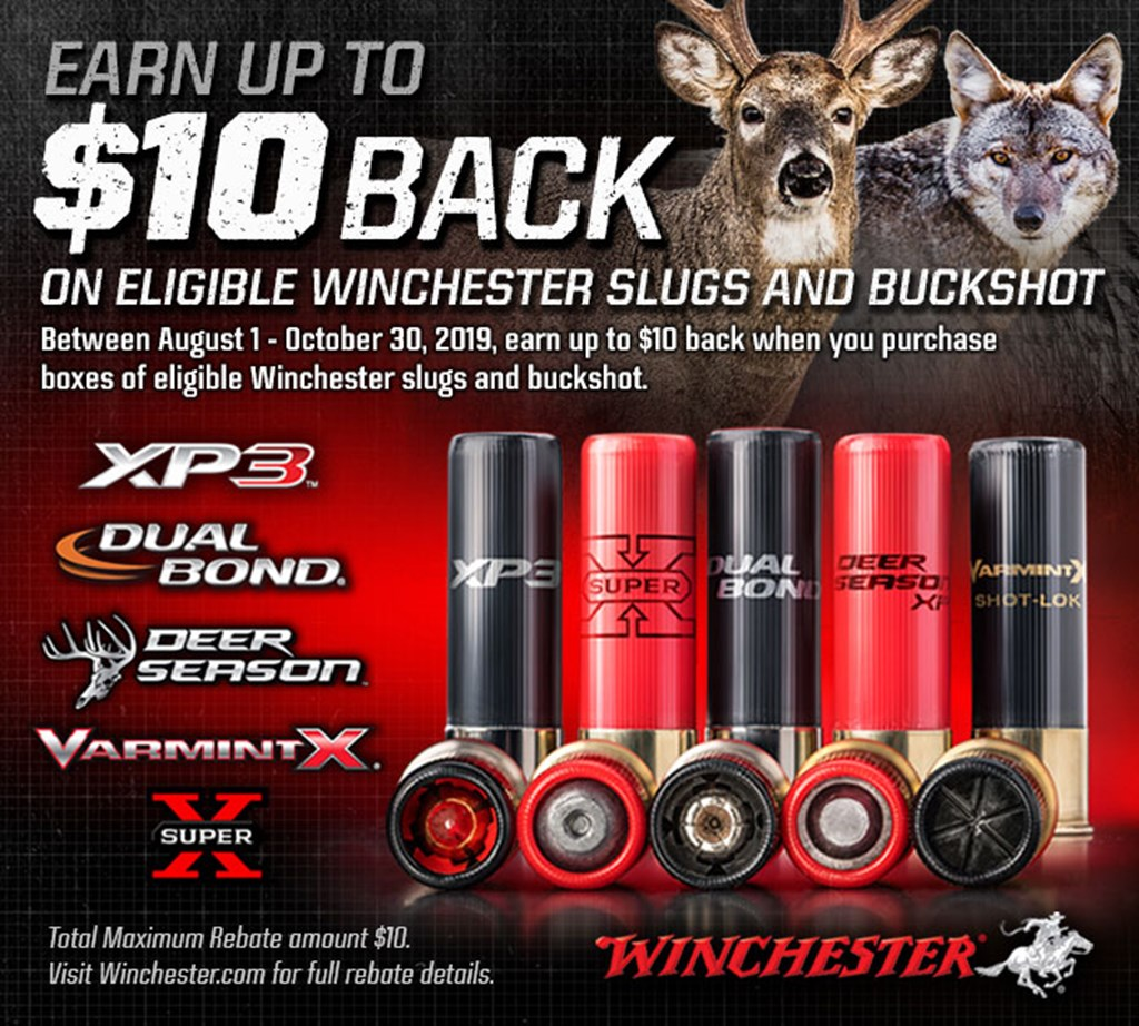 Winchester slugs and bucks rebate