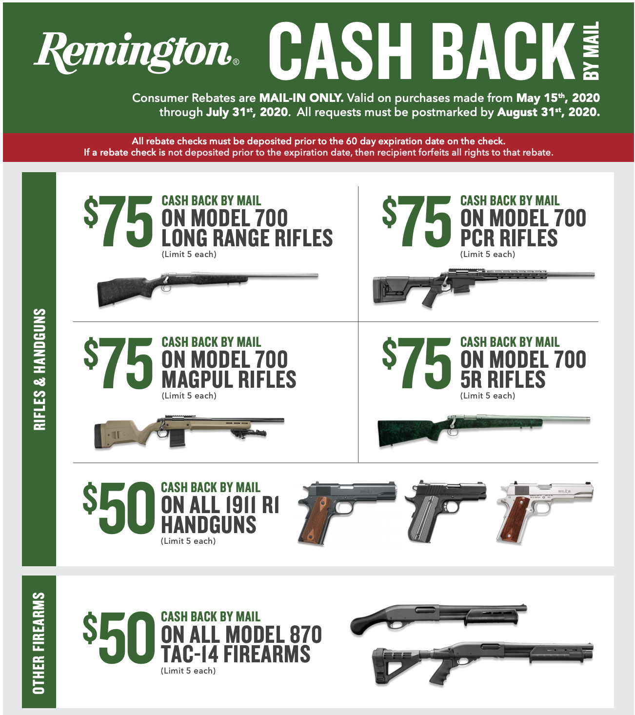 Remington Rebate