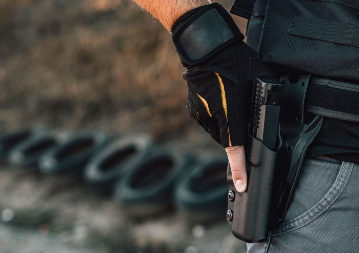 Bring holster to the range to practice drawing your gun