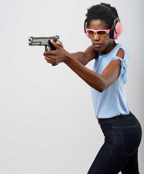 Weaver handgun shooting stance