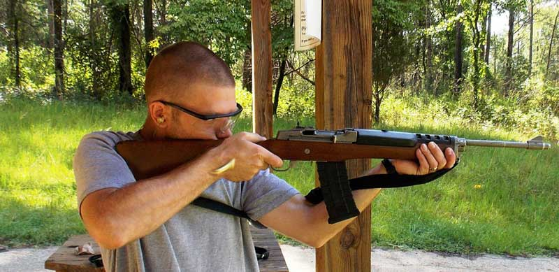 Hasty Sling rifle shooting stance