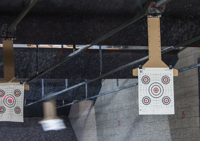 Paper target on the range
