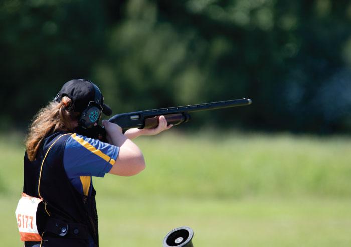 Sport shooting with a shotgun