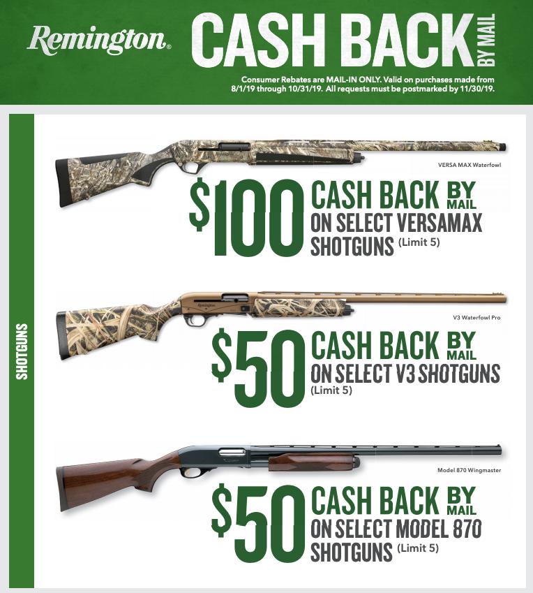 Remington Shotgun Rebate