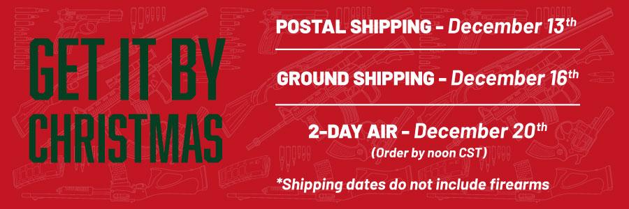 2019 Christmas Shipping Cutoff