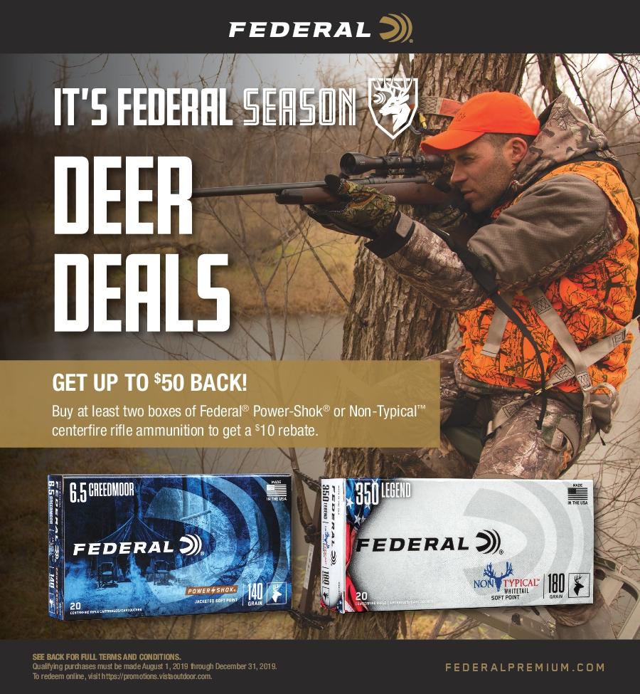 Federal Deer Deals Ammunition Rebate