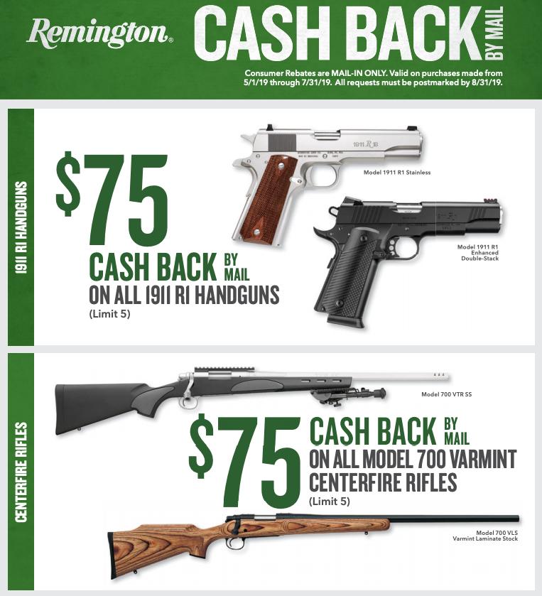 Remington Firearm Rebate