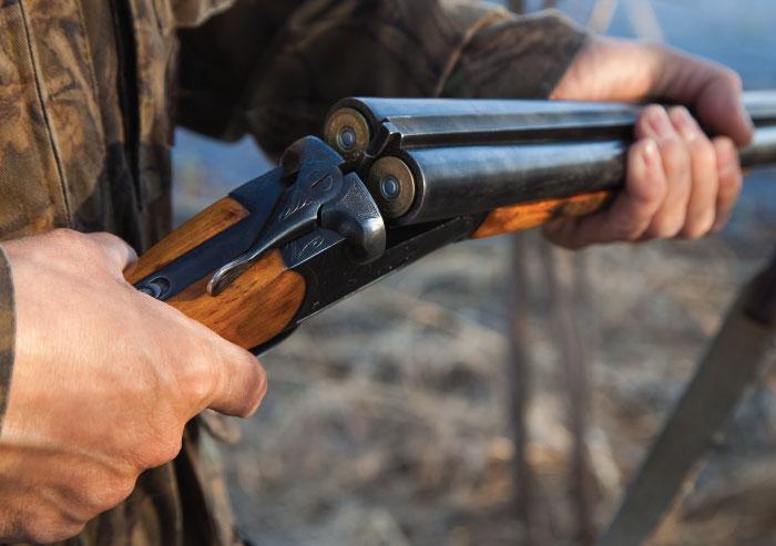 Break-action double barrel shotgun